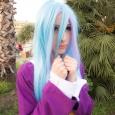 shiro no game no life school uniform queen cosplay long sky blue hair wig cute